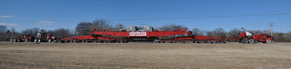 Barnhart moves 40 ton generator up Hwy 11E near Morristown